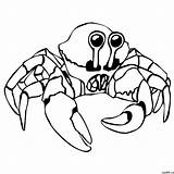 Crab Drawing Cartoon Simple Dungeness Steps Claw Coloring Photoshop Getdrawings Cgattic sketch template