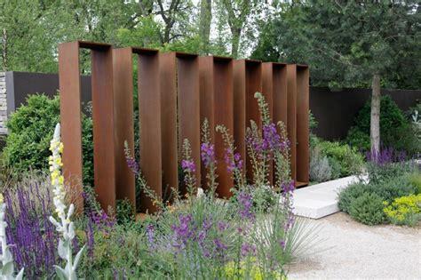 Garten Gestalten Windschutz by Gestalten Mit Holz Metall Naturstein Herrhammer