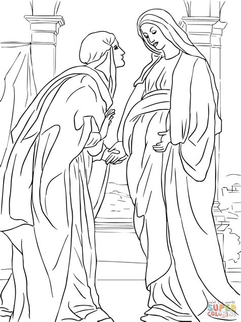 coloring pages mary  angel coloring home