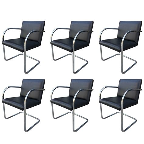 set of six brno chairs by mies der rohe manufactured