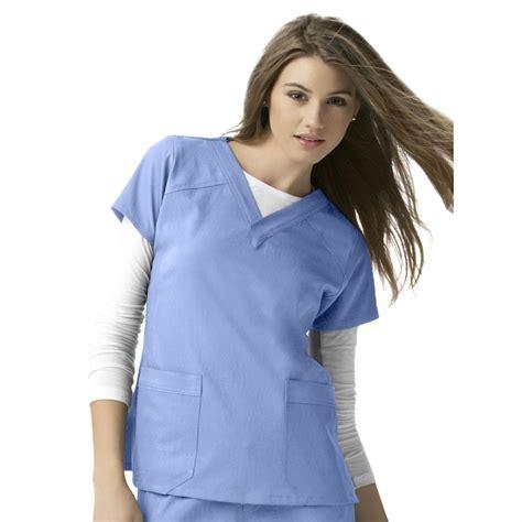 Ceil Blue Scrubs Womens by S Wonderwink 174 Sporty V Neck Top 221460 Shirts