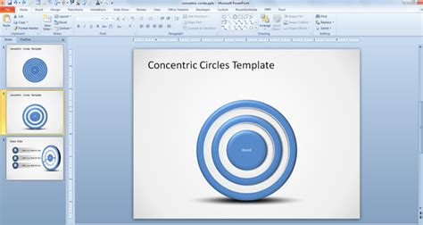 how to create ppt template how to create concentric circles in powerpoint