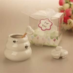 1pcs meant to bee ceramic honey pot wedding bridal shower With honey pot wedding favors