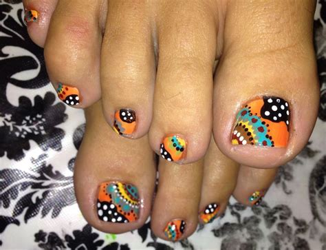 toenail designs for fall funky toe nail 15 cool toe nail designs for