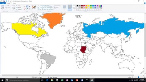 fill an area with color in microsoft paint
