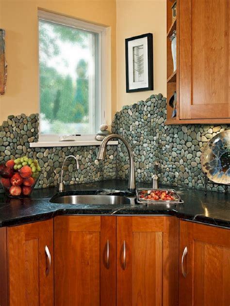 creative kitchen backsplashes  improve  interior