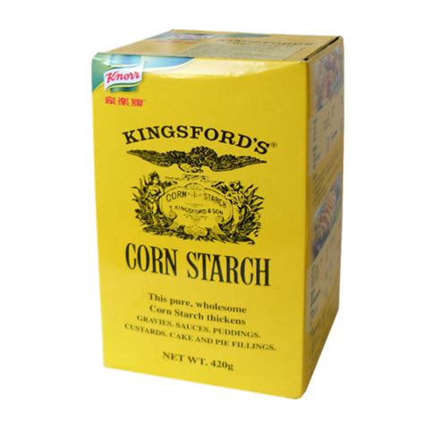 0 mg sodium (0% dv); Liroy B.V. - Kingsford Corn Starch 24x420g box