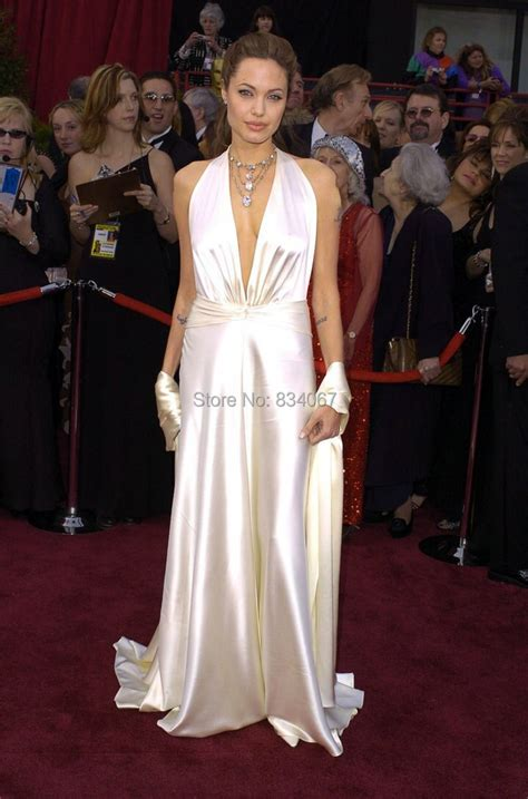 collection angelina jolie long women satin prom