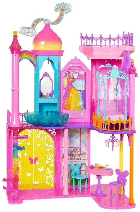Walmart Dining Table Chairs by Barbie Dreamtopia Rainbow Cove Princess Castle Playset