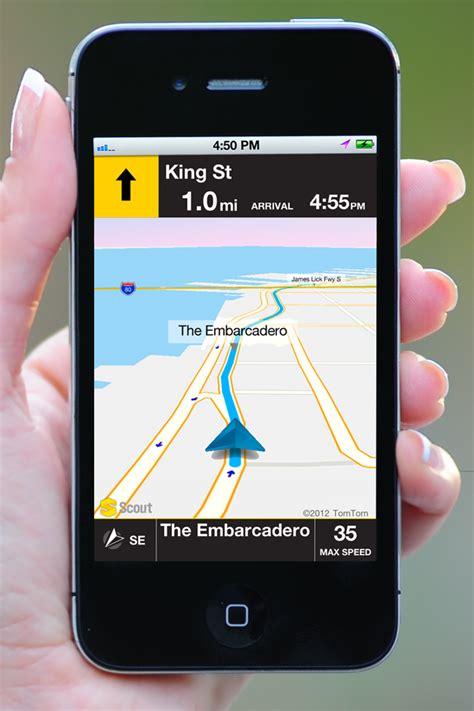 gps app for iphone telenav s scout app for iphone gets offline gps navigation