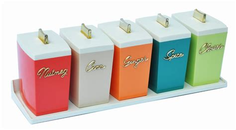 spice canisters designed by paul schremmer 1960s z