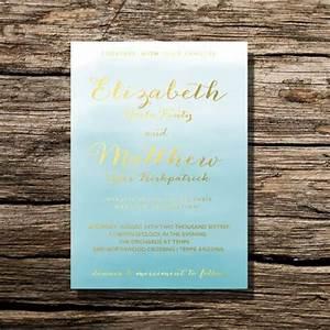 printable wedding invitation ocean blue watercolor floral With diy wedding invitations gold coast