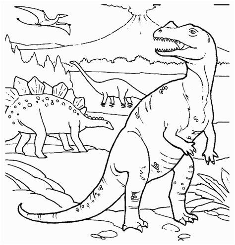 Kleurplaat Dino Rex by Dinosaurus Kleurplaten