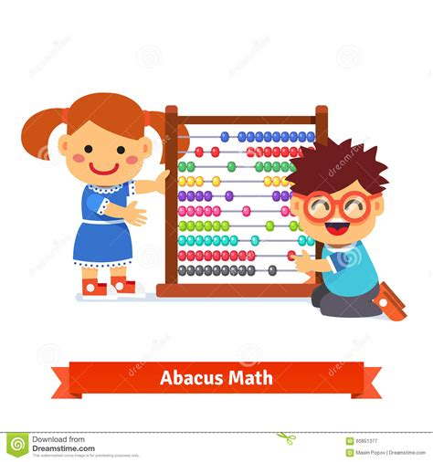 Kids Are Learning Math Stock Vector Illustration Of Baby 60851377