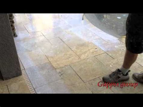 how to clean and seal travertine granite and