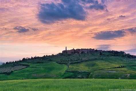 colors   sky pienza tuscany italy