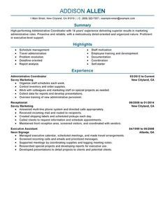 Coordinator Resume by Pin On Resume Sle Template And Format 아이디어