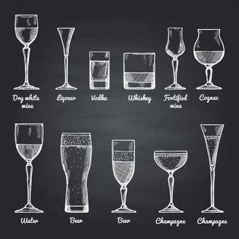 disegni di bicchieri icone piatte dell alcool scaricare vettori gratis