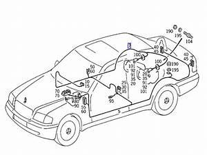 Mercedes W202 Fuel Gauge Sensor Wiring Harness Loom