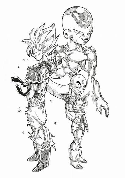Goku Dragon Ball Fan Ssj Bloodsplach Coloring