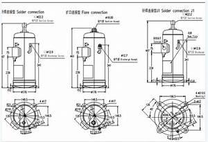 R410a Hitachi Scroll Compressor   Hermetic Refrigeration
