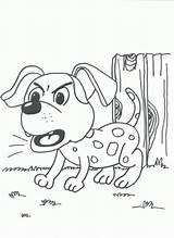 Coloring Bark Barking Designlooter Button sketch template
