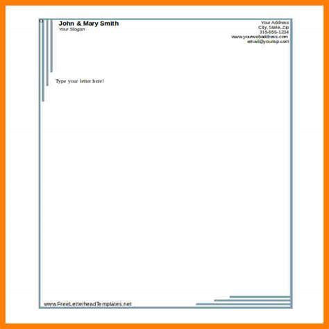 letterhead format template letter flat