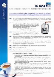 Lavazza Famiglia Lb 1000 User Guide Manual Pdf