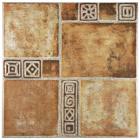 home depot merola tile merola tile beige 17 3 4 in x 17 3 4 in ceramic