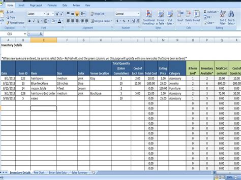 purchase  sales entry  excel fee tracking