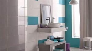 salle de bain bleu turquoise et blanc With salle de bain bleu et blanc