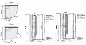 cabine de douche 1 4 de rond horizon r receveur faible With hauteur porte de douche