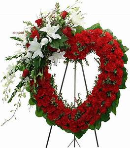 heart shaped sympathy spray | Funeral Heart Wreaths ...