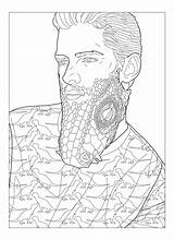 Beard Coloring Template Pages Beards sketch template