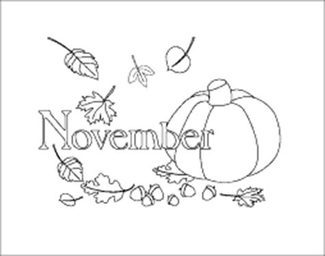 november calendar month coloring page