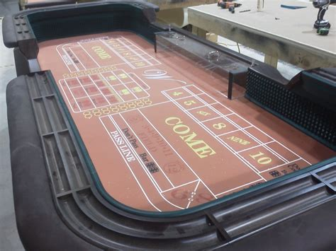 Hand Made 12' Craps Table And Matching Blackjack Table By