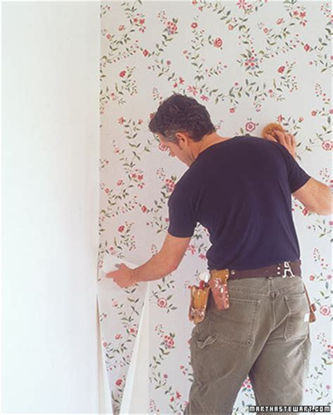 hanging wallpaper fitting corners  trim martha stewart