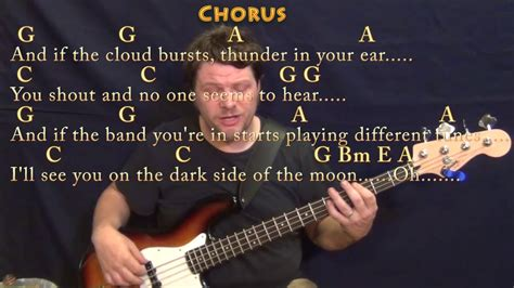 Brain Damage/eclipse (pink Floyd) Bass Guitar Cover Lesson