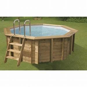 Liner Piscine Octogonale : ubbink piscine octogonale en bois sunwater 360xh120 cm ~ Melissatoandfro.com Idées de Décoration