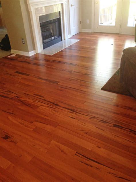 Koa Flooring With Cherry Cabinets by Tigerwood Koa