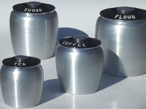 vintage kitchen canisters sets vintage kromex spun aluminum canister set retro kitchen canisters