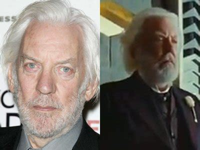 donald sutherland president snow get to know 13 stars from the hunger games cast