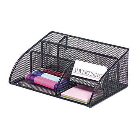 office depot desk drawer organizer brenton studio metro mesh angled desk organizer black by