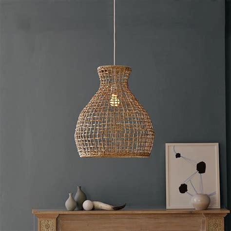 woven seagrass pendant modern pendant lighting by