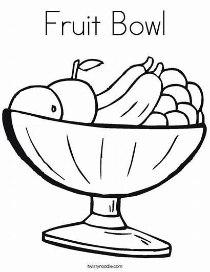 Fruit Coloring Bowl Fruits Noodle Built California