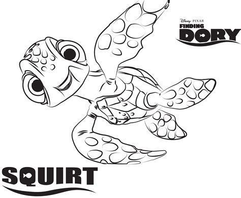 Awesome Disney Coloring Pages Squirt Gallery