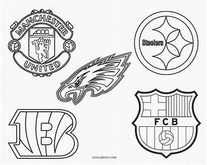 Coloring Football Pages Logos Team Printable Cool2bkids