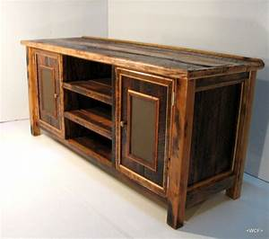 reclaimed barn wood tv stand With barn board tv stand