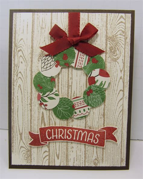 personally  stampin  scraps christmas wreath