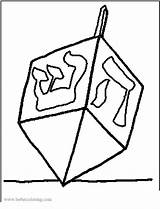 Dreidel sketch template